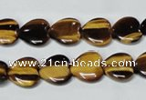 CTE181 15.5 inches 14*14mm heart yellow tiger eye gemstone beads