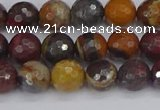 CTE1820 15.5 inches 8mm faceted round red iron tiger beads