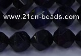 CTE1918 15.5 inches 10mm faceted nuggets blue tiger eye beads