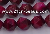 CTE1943 15.5 inches 10mm faceted nuggets red tiger eye beads