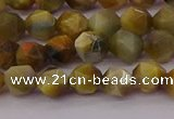 CTE1975 15.5 inches 6mm faceted nuggets golden & blue tiger eye beads
