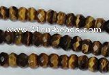 CTE198 15.5 inches 5*8mm faceted rondelle yellow tiger eye gemstone beads