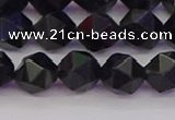 CTE1982 15.5 inches 8mm faceted nuggets blue tiger eye beads