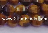 CTE1992 15.5 inches 8mm faceted round yellow tiger eye beads