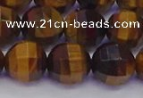 CTE1993 15.5 inches 10mm faceted round yellow tiger eye beads