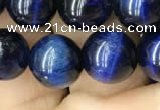 CTE2038 15.5 inches 10mm round blue tiger eye beads wholesale