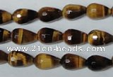 CTE204 15.5 inches 8*12mm faceted teardrop yellow tiger eye beads