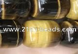 CTE2061 15.5 inches 13*18mm drum yellow tiger eye gemstone beads