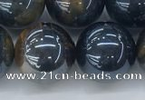 CTE2091 15.5 inches 18mm round AB-color blue & yellow tiger eye beads