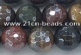 CTE2095 15.5 inches 10mm faceted round AB-color mixed tiger eye beads