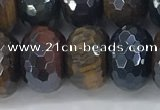 CTE2106 10*16mm faceted rondelle AB-color mixed tiger eye beads