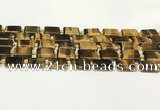 CTE2132 15.5 inches 13*18mm rectangle yellow tiger eye beads