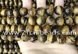 CTE2151 15.5 inches 14mm round yellow tiger eye beads wholesale