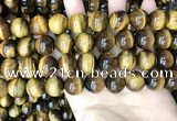 CTE2162 15.5 inches 14mm round yellow tiger eye gemstone beads