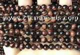 CTE2181 15.5 inches 6mm round red tiger eye gemstone beads