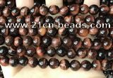 CTE2182 15.5 inches 8mm round red tiger eye gemstone beads