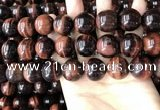 CTE2188 15.5 inches 20mm round red tiger eye gemstone beads