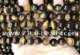 CTE2193 15.5 inches 10mm round mixed tiger eye beads wholesale