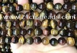 CTE2194 15.5 inches 12mm round mixed tiger eye beads wholesale