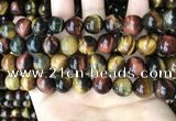 CTE2195 15.5 inches 14mm round mixed tiger eye beads wholesale