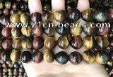 CTE2196 15.5 inches 16mm round mixed tiger eye beads wholesale