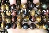CTE2197 15.5 inches 18mm round mixed tiger eye beads wholesale