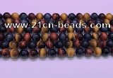 CTE2220 15.5 inches 8mm round colorful tiger eye gemstone beads