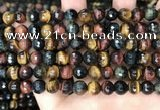 CTE2227 15.5 inches 8mm faceted round colorful tiger eye beads