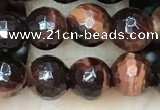 CTE2237 15.5 inches 6mm faceted round red tiger eye beads