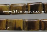 CTE314 15.5 inches 12*18mm rectangle yellow tiger eye gemstone beads