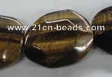CTE324 15.5 inches 25*35mm freeform yellow tiger eye gemstone beads