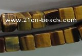 CTE327 15.5 inches 10*10mm cube yellow tiger eye gemstone beads