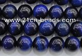 CTE416 15.5 inches 8mm round blue tiger eye beads wholesale