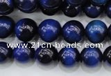 CTE417 15.5 inches 10mm round blue tiger eye beads wholesale