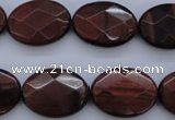 CTE462 15.5 inches 15*20mm faceted oval red tiger eye beads