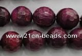 CTE476 15.5 inches 16mm faceted round red tiger eye beads wholesale