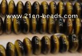 CTE603 15.5 inches 6*12mm rondelle yellow tiger eye beads wholesale