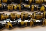 CTE606 15.5 inches 8*12mm teardrop yellow tiger eye beads wholesale