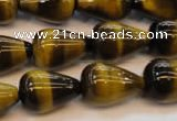 CTE609 15.5 inches 13*18mm teardrop yellow tiger eye beads wholesale