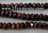 CTE65 15.5 inches 5*8mm faceted rondelle red tiger eye gemstone beads