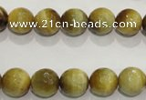 CTE903 15.5 inches 10mm faceted round golden tiger eye beads