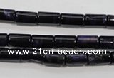 CTE947 15.5 inches 6*10mm tube dyed blue tiger eye beads wholesale
