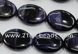 CTE954 15.5 inches 15*20mm oval dyed blue tiger eye beads wholesale