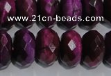 CTE984 15.5 inches 12*16mm faceted rondelle dyed red tiger eye beads