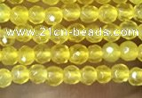 CTG1002 15.5 inches 2mm faceted round tiny yellow agate beads