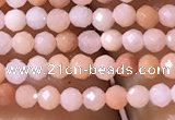 CTG1038 15.5 inches 2mm faceted round tiny pink aventurine beads