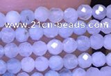 CTG1043 15.5 inches 2mm faceted round tiny aquamarine beads
