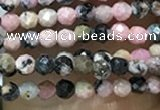 CTG1061 15.5 inches 2mm faceted round tiny rhodonite beads
