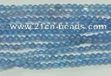 CTG107 15.5 inches 2mm round tiny blue agate beads wholesale