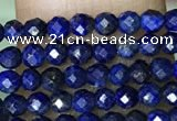 CTG1074 15.5 inches 2mm faceted round tiny dyed lapis lazuli  beads